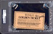 Gene Wilder Signed Wonka's Golden Ticket Auto Slabbed Psa/dna 83894327