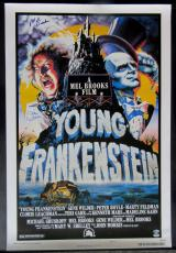 Gene Wilder & Mel Brooks Signed Young Frankenstein Full Size Movie Poster PSA
