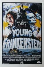 Gene Wilder Signed Young Frankenstein Auto 12x18 Movie Poster PSA/DNA #4A96771