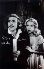 Gene Wilder Teri Garr Signed Young Frankenstein 12x18 Photo PSA Auto 4A96371