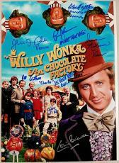 GENE WILDER + Willy Wonka Cast x8 Signed 12x17 Photo #1 Beckett BAS LOA