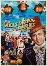 GENE WILDER + Willy Wonka Kids x6 Cast signed 12x18 #3 Photo PSA/DNA LOA