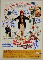 GENE WILDER + Willy Wonka Kids x6 Cast signed 12x18 #4 Photo PSA/DNA LOA
