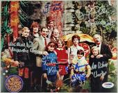 GENE WILDER + Willy Wonka Kids x6 Cast signed 8x10 Garden Photo PSA/DNA LOA