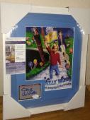 Gene Wilder Willy Wonka Signed Autograph 13x16 Matted Framed Jsa Coa Rare B