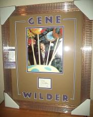 Gene Wilder Willy Wonka Signed Autographed Double Matted 18x23 Framed Jsa Coa