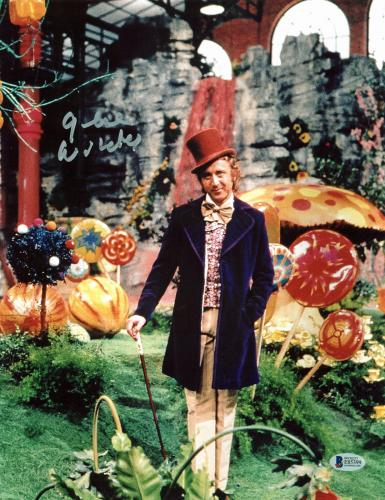 Gene Wilder Willy Wonka & The Chocolate Factory Signed 11x14 Photo BAS #E85399