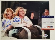 GENE WILDER Young Frankenstein Cast Signed 8x10 Photo x3 Auto BROOKS + GARR PSA