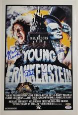 GENE WILDER Young Frankenstein Cast x3 Signed 12x18 Photo #1 BROOKS + GARR PSA