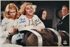 GENE WILDER Young Frankenstein Cast x3 Signed 12x18 Photo #2 BROOKS + GARR PSA