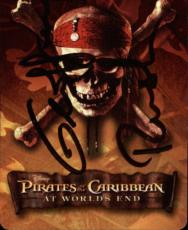 Geoffrey Rush Pirates Of The Caribbean Signed Playing Card Barbossa Jack Of Club