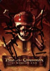 Geoffrey Rush Pirates Of The Caribbean Signed Playing Card Barbossa Jack Of Hear