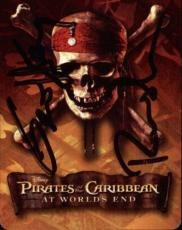 Geoffrey Rush Pirates Of The Caribbean Signed Playing Card Barbossa Jack Of Spad