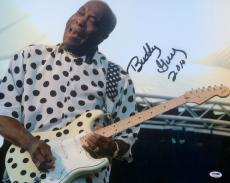"George Buddy Guy Signed "" Chicago Blues "" 16x20 Photo PSA/DNA"