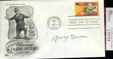 George Burns 1977 Jsa Certed Fdc Authentic Autograph
