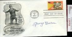 George Burns 1977 Jsa Certed Fdc Authentic Autograph