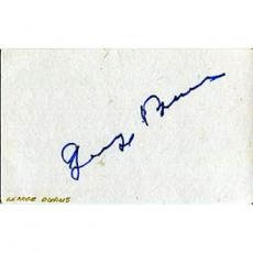 George Burns Autographed/Signed 3x5 Card