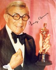 "George Burns Autographed 8"" x 10"" Holding Oscar Award Photograph - JSA"