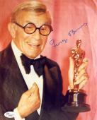 "George Burns Autographed 8"" x 10"" Holding Oscar Award Photograph - JSA"