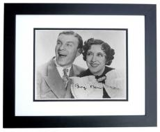 George Burns Signed - Autographed 8x10 Photo BLACK CUSTOM FRAME - Deceased