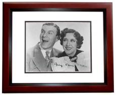 George Burns Signed - Autographed 8x10 Photo MAHOGANY CUSTOM FRAME - Deceased