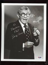 George Burns Autographed 8X10 Photo PSA/DNA