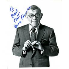George Burns Autographed Black & White 8x10 Photo