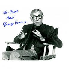 George Burns Autographed Black & White 8x10 Photo (James Spence)