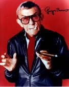 George Burns Autographed Cigar Smoke Signed 8x10 Photo AFTAL