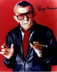 George Burns Autographed Cigar Smoke Signed 8x10 Photo AFTAL