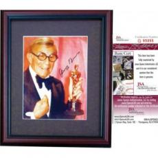 George Burns Autographed Framed 8x10 Photo