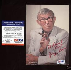 George Burns Autographed Photo Postcard PSA/DNA
