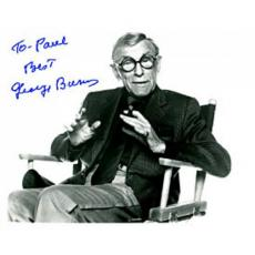 George Burns Autographed / Signed Black & White 8x10 Photo (James Spence)