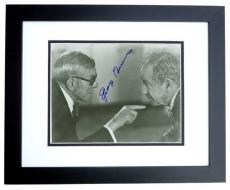 George Burns Signed - Autographed Vintage 8x10 Photo BLACK CUSTOM FRAME - Deceased 1996
