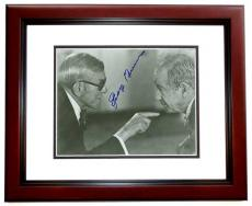 George Burns Signed - Autographed Vintage 8x10 Photo MAHOGANY CUSTOM FRAME - Deceased 1996