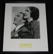 George Burns & Gracie Allen Dual Signed Framed 16x20 Photo Display JSA B