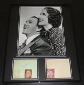 George Burns & Gracie Allen Dual Signed Framed 16x20 Photo Display JSA
