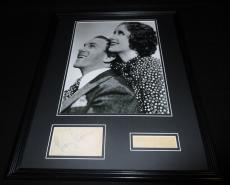 George Burns & Gracie Allen Dual Signed Framed 16x20 Photo Display