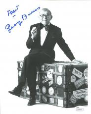 GEORGE BURNS HAND SIGNED 8x10 PHOTO      COMEDY LEGEND   BEST POSE EVER      JSA