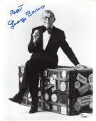 GEORGE BURNS HAND SIGNED 8x10 PHOTO      COMEDY LEGEND   BEST POSE EVER      JSA