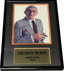 George Burns Hand Signed 8x10 Photo Custom Framed Photo With Cigar