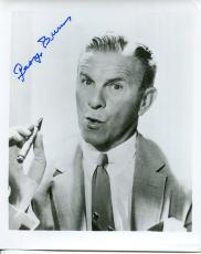 GEORGE BURNS HAND SIGNED 8x10 PHOTO+COA       AWESOME POSE FROM 50's WITH CIGAR