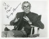 GEORGE BURNS HAND SIGNED 8x10 PHOTO+COA          GREAT COMEDIAN   TO PETE