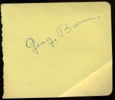 George Burns Hand Signed Jsa Album Page Authenticated Autograph