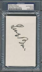 George Burns Index Card PSA/DNA Certified Authentic Auto Autograph Signed *7585