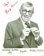 George Burns Jsa Authenticated Signed 8x10 Photo Autograph