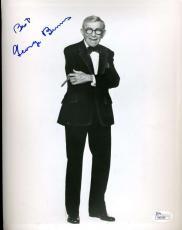 George Burns Jsa Coa Cert Hand Signed 8x10 Photo Authenticated Autograph