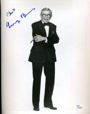 George Burns Jsa Coa Cert Hand Signed 8x10 Photo Authenticated Autograph