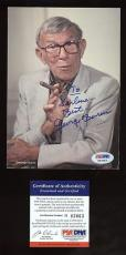 George Burns MINT Autographed 5X7 Photo PSA/DNA*