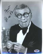 George Burns Psa/dna Coa Signed 8x10 Photo Authenticated Autograph